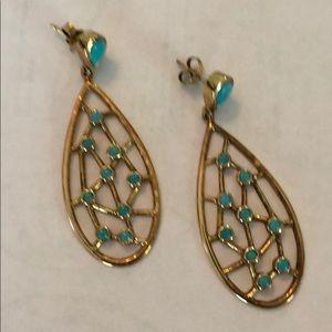NWOT Elyssa Bass Turquoise Web Earrings